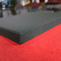 SOL RUBBER used children outdoor safety crossfit playground rubber floor tiles mat fine SBR granules