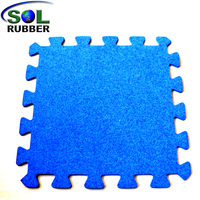 SOL RUBBER CrossFit Gym Rubber roll Interlocking Flooring Tiles mat EPDM particles mixed