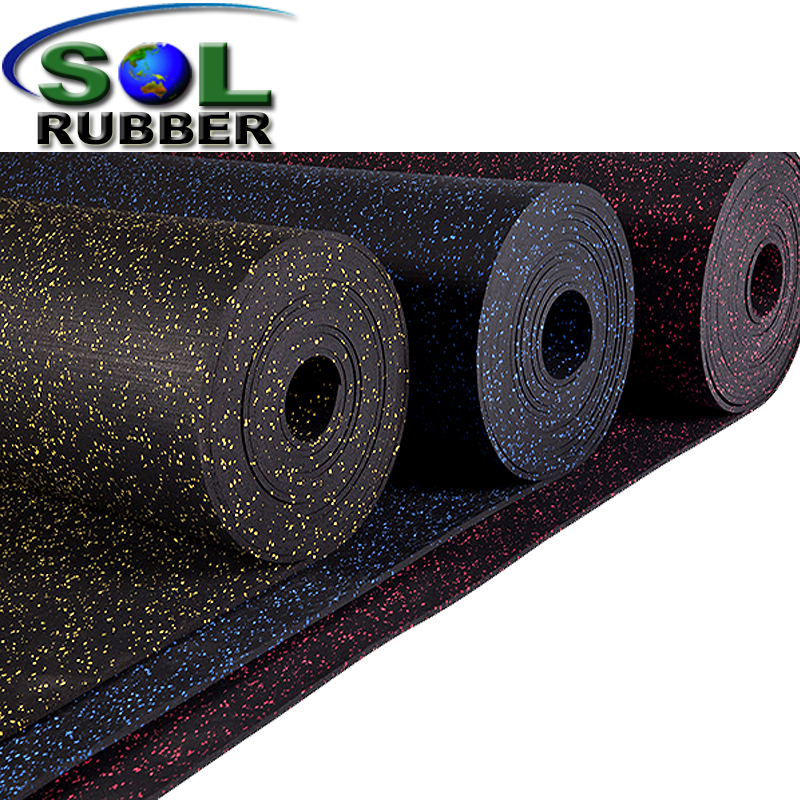 Rubber Rolls Fire Resistance Commercial Gym Rubber Flooring