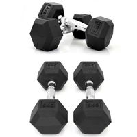 Commercial Gym Equipment Rubber Hex Dumbbell