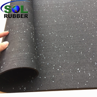 Roll Rubber Gym Fitness Flooring with EPDM Granules