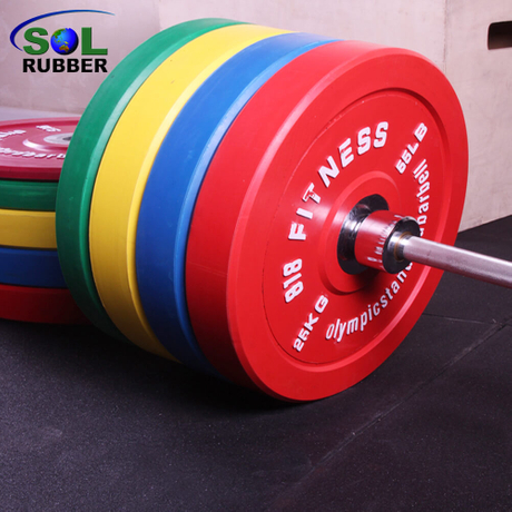 Colorful Commercial Fitness Rubber Bumper Plate