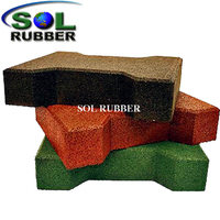 45MM Rubber Brick Pavers