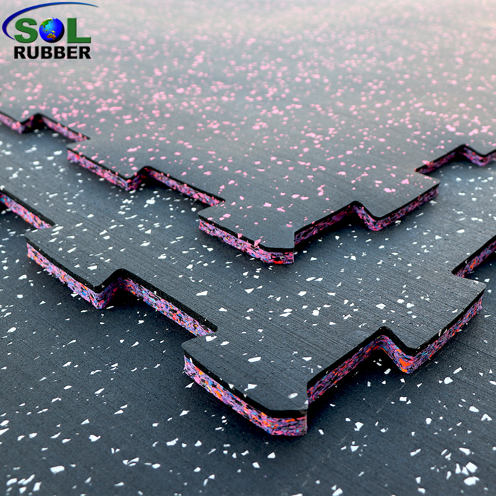 Compound Interlock Flooring Rubber Tile