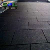 50mm Black Rubber Playground Flooring