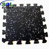 Commercial Grade Interlock Rubber Flooring