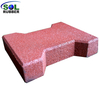 SOL RUBBER outdoor driveway recycled rubber brick tiles patio pavers mats lowes fine SBR granules