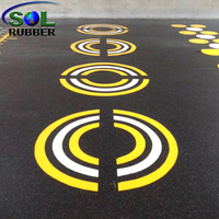 SOL RUBBER CrossFit Gym Rubber roll Interlocking Flooring Tiles mat Customized Logo