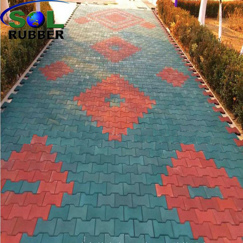 Outdoor Interlock Rubber Flooring Mat for Horse Stable