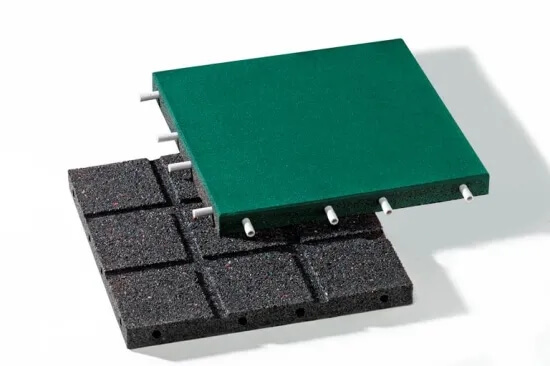 Anti Vibration Outdoor Sports Rubber Crumb Floor Tile