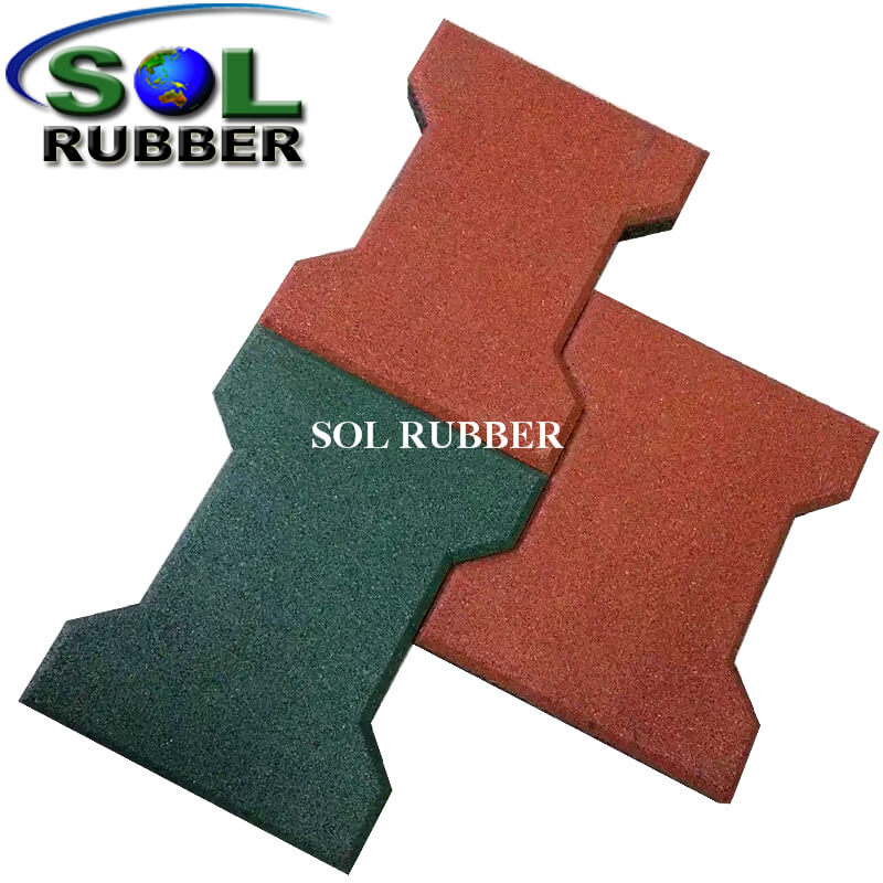 SBR And EPDM Rubber Horse Pathway Dog Bone Rubber Mat