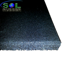 SOL RUBBER wholesale rubber gym flooring mat used fine SBR granules surface, bigger SBR granules bottom