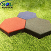 SOL RUBBER used outdoor safety garden rubber floor tiles mat fine granules