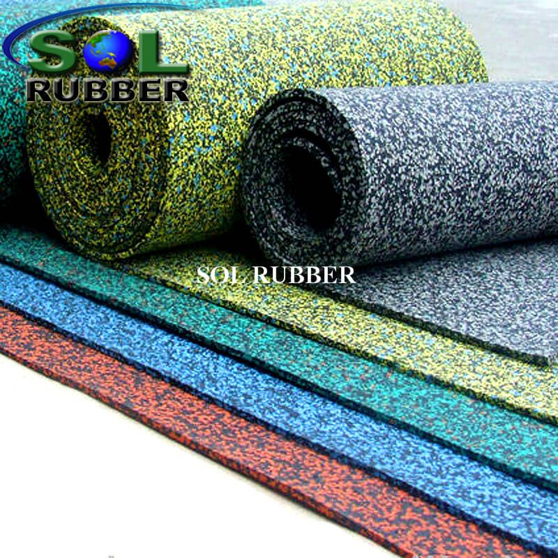 Rolls Flooring Use for Fitness Area Rubber Flooring