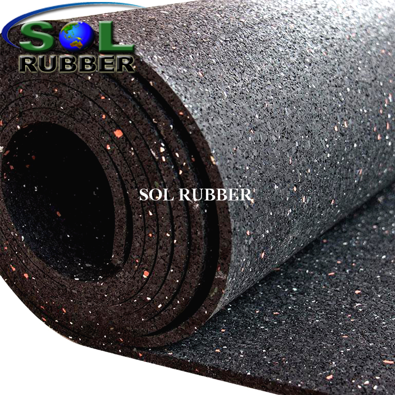 Gym Equipment Shock Proof Rubber Gym Flooring rolls