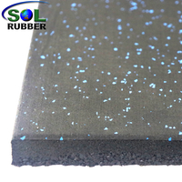 Double-layer Compound Rubber Flooring Mat Tile