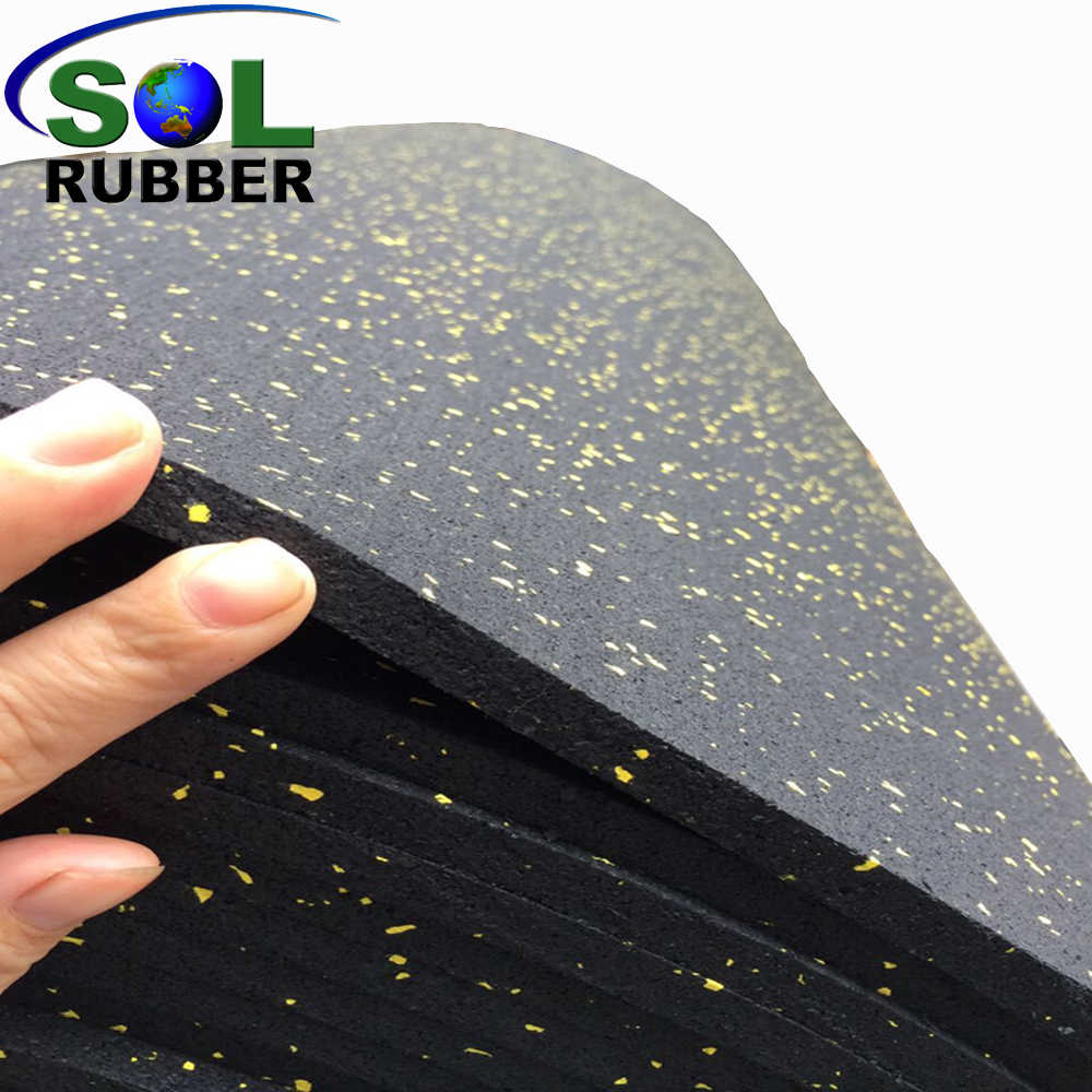 Shock Sound Absorbing EPDM Gym Mat Rubber Roll Flooring