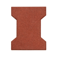 "1 3/4"" Thick Brick Puzzle Rubber Paver Use for Horse"