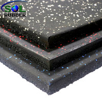 Compound Rubber Flooring Top Layer Rubber Roll,bottom Big Sbr Granules