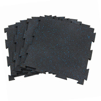3/8 Home and Commercial Gym Interlocking Rubber Floor Tiles