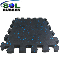 8mm Easy Installation Interlocking Rubber Tiles for Gym