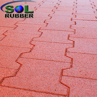 Walkway Safety Horse Interlock Rubber Flooring Paver
