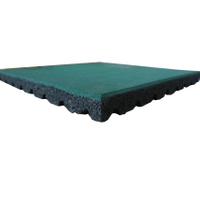 Safety Protection Outdoor Playground Floor Tile Rubber Mat