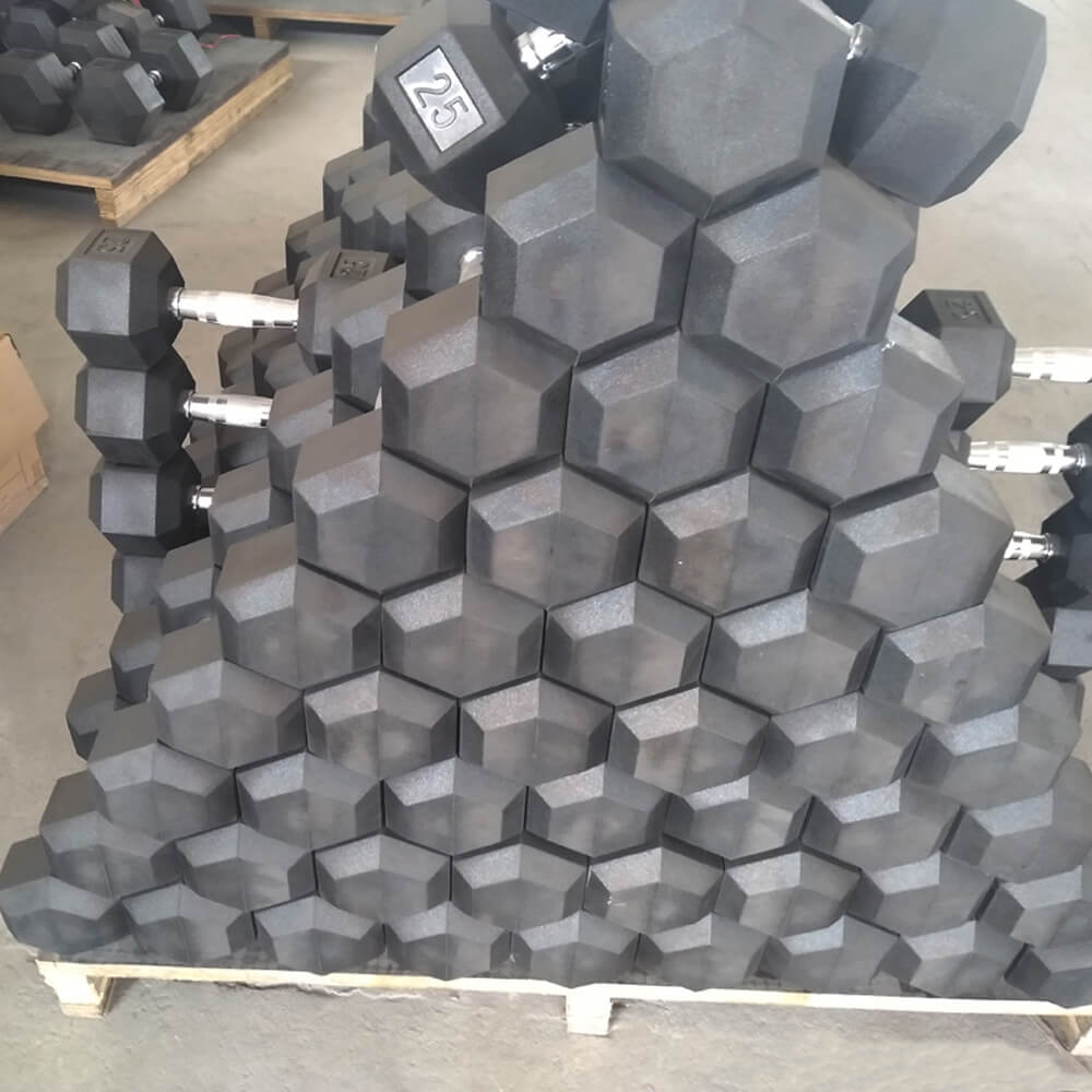 2020 New Gym Equipment Round Rubber Fixed Dumbbell